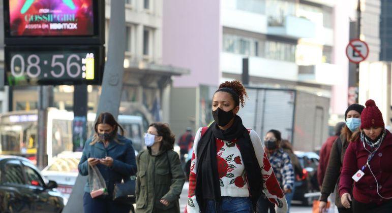 São Paulo teve recorde de frio este ano com termômetros registrando média de 4,7°C