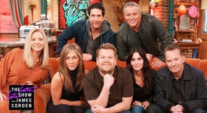 Elenco de 'Friends' participou de brincadeiras com o apresentador James Corden