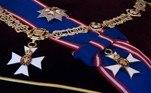 Detalhes do colar, da medalha e da Estrela e Insígnia da Ordem Real Vitoriana conferidas ao Duque de Edimburgo