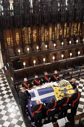 O funeral de príncipe Philip durou cerca de 1 hora