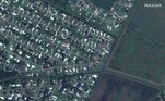 Satellite imagery showing homes and Flounder Drive before Hurricane Laura hit, Lake Charles, Louisiana, U.S. in this June 3, 2019 handout photo. Satellite image ©2020 Maxar Technologies/Handout via REUTERS