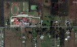 Satellite imagery showing Grand Lake High School and homes before Hurricane Laura hit south of Lake Charles, Louisiana, U.S. in this January 25, 2020 handout photo. Satellite image ©2020 Maxar Technologies/Handout via REUTERS
