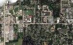 Satellite imagery showing buildings along W McNeese Street before Hurricane Laura hit Lake Charles, Louisiana, U.S. in this September 29, 2019 handout photo. Satellite image ©2020 Maxar Technologies/Handout via REUTERS
