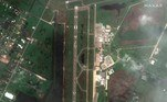Satellite imagery showing Lake Charles regional airport after Hurricane Laura hit, in Lake Charles, Louisiana, U.S. in this August 27, 2020 handout photo. Satellite image ©2020 /Handout via REUTERS