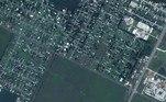 Satellite imagery showing homes near Lake Charles Memorial Hospital for Women, before Hurricane Laura hit, in Lake Charles, Louisiana, U.S. in this June 3, 2019 handout photo. Satellite image ©2020 Maxar Technologies/Handout