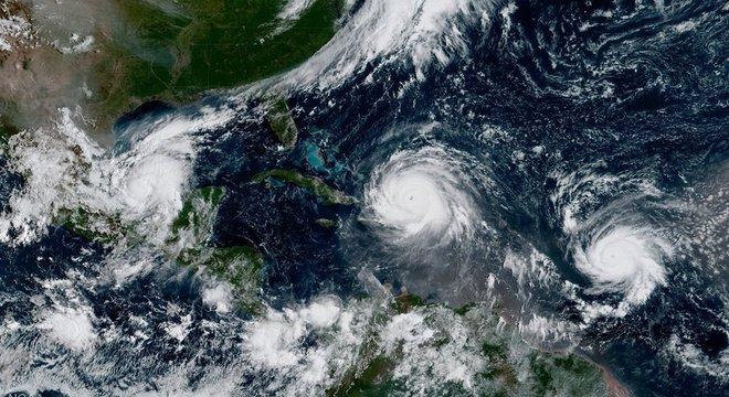 Furacões Irma, José e Katia já passaram pelo oceano Atlântico em 2011; em 2005, Katia era Katrina Nomes regionais