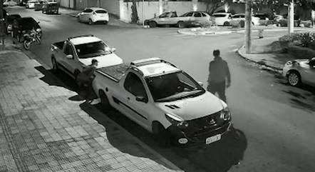 Suspeitos fugiram mesmo com o alarme acionado
