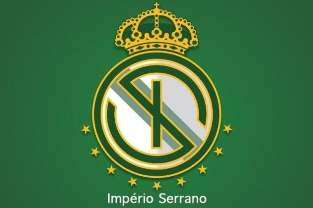 Fusão dos escudos: Império Serrano e Real Madrid