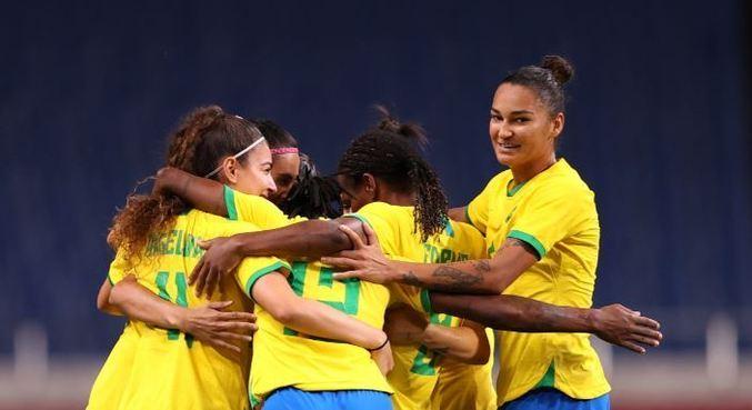 Brasil está classificado para as quartas de final do futebol feminino