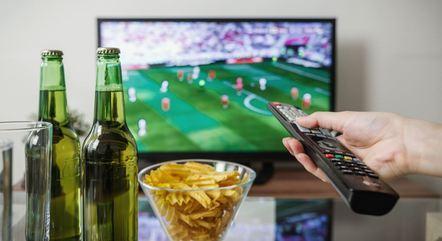 TV sempre como tela principal nas transmissões de futebol