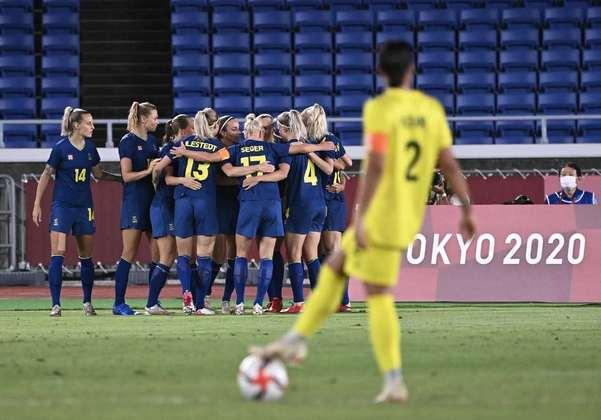 FUTEBOL FEMININO - O adversário do Canadá na disputa pela medalha de ouro do futebol feminino será a Suécia. A seleção sueca eliminou a Austrália após vencer a semifinal por 1 a 0. Sendo assim, as australianas decidirão a medalha de bronze contra as americanas.