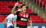 Pedro fez o terceiro gol do Flamengo