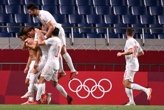 FUTEBOL MASCULINO - A Espanha vai decidir o título olímpico contra o Brasil. Na prorrogação, os espanhóis derrotaram o Japão por 1 a 0, com gol de Asensio.