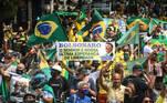 PA - MANIFESTAÇÃO-APOIADORES-JAIR-BOLSONARO-1°°-MAIO - GERAL - Apoiadores de Jair Bolsonaro, durante manifestação de apoio ao Presidente, no dia do trabalhador 1° de maio, na cidade de Belém, PA, neste sábado, 01. 01/05/2021 - Foto: MARX VASCONCELOS/FUTURA PRESS/FUTURA PRESS/ESTADÃO CONTEÚDO