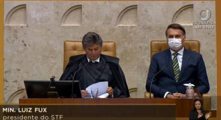 Fux abre ano judiciário ao lado de Jair Bolsonaro