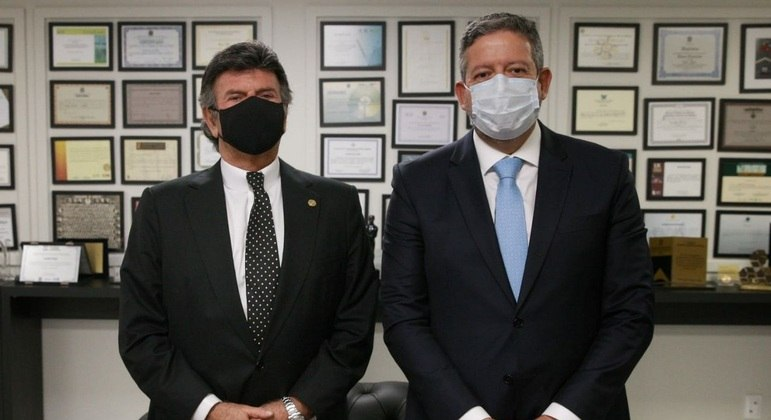 O presidente do STF, Luiz Fux, e o presidente da Câmara, Arthur Lira