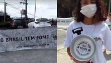 Ato contra a fome em São Paulo pede R$ 600 de auxílio emergencial