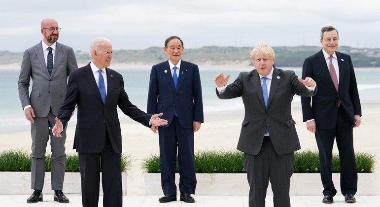Líderes do G7 deram início à cúpula do G7 nesta sexta-feira