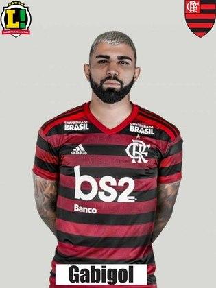 Gabigol - 5,0 - Artilheiro do time no ano e do Campeonato Carioca, Gabigol não teve uma oportunidade clara para ir à rede. Irreconhecível, o camisa 9 ficou devendo ao longo dos 90 minutos.