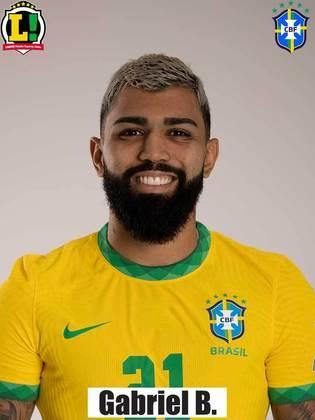 Gabigol - 6,0 - Conseguiu algumas escapadas e deu um ótimo passe para Neymar, mas acabou recebendo poucas bolas no ataque.