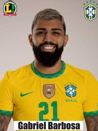 Gabigol - 7,0 - Entro logo após o segundo gol brasileiro. Com menos de um minuto em campo, levou cartão amarelo. Conseguiu fazer boa tabela com Neymar, que perdeu o gol. Minutos depois, o camisa 10 serviu Gabigol, que balancou as redes com o peito.