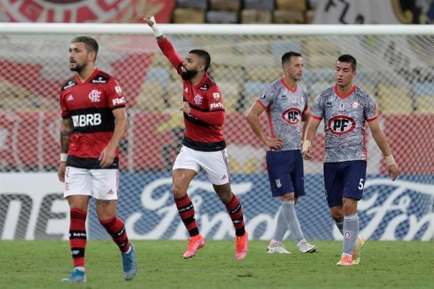 Gabigol, Arrascaeta, Flamengo, La Calera