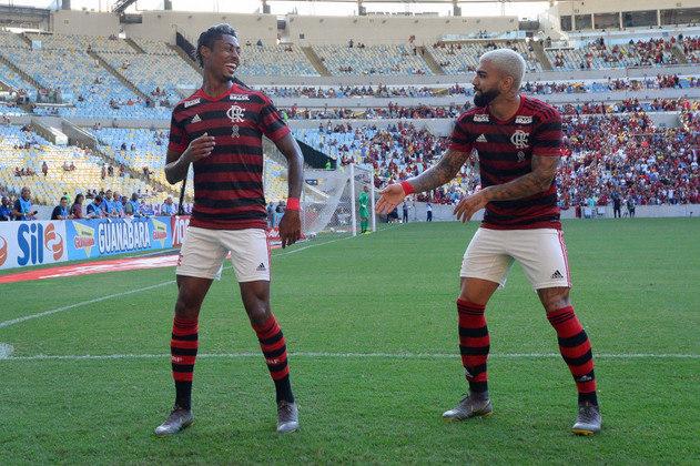 Gabigol e Bruno Henrique: jogaram juntos no Santos e no Flamengo.