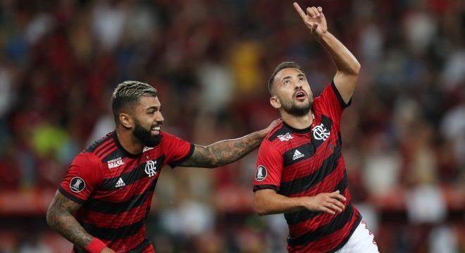 Gabigol e Éverton Ribeiro marcaram os dois primeiros gols na vitória do Flamengo