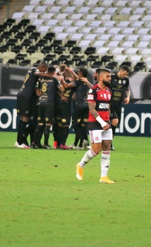 Gabigol lamenta gol do Ceará