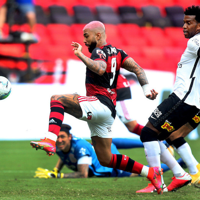 VAR demorou 3min20 para confirmar gol de Gabigol no Flamengo x Internacional