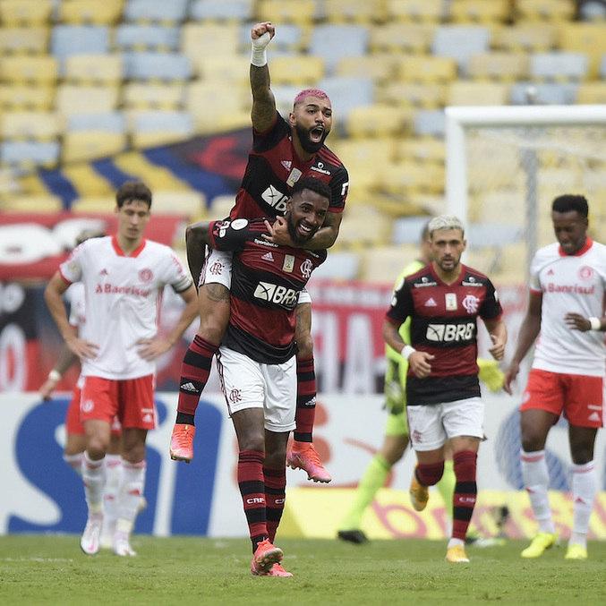 Gabigol marcou gol da virada do Flamengo sobre Internacional no Maracanã