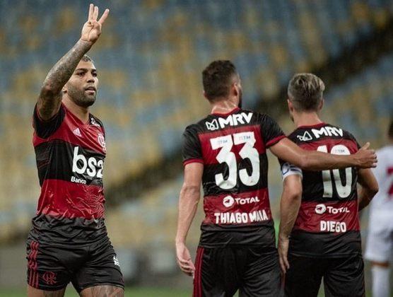Gabigol marcou o primeiro hat-trick pelo Flamengo na vitória por 4 a 1 sobre a Cabofriense, pela primeira rodada da Taça Rio, em fevereiro.