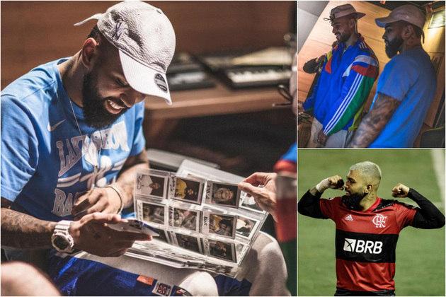Gabriel Barbosa, o Gabigol, que recentemente igualou a marca de Zico na Libertadores, também dá sinais de que quer levar seu talento dos campos para os estúdios de música