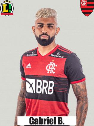 Gabriel Barbosa - 6.5 - Outro jogador que pouco apareceu na partida, e não conseguiu dar sequência às jogadas de ataque do Flamengo. Errou passes bobos, que não costuma errar. No fim, marcou o gol de empate ao cobrar bem o pênalti, acabando com seu jejum.
