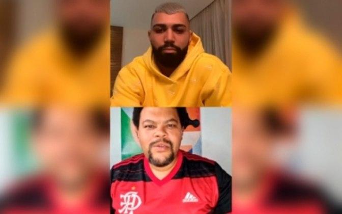 Gabriel Barbosa, do Flamengo, adora as redes, seja para expor seus penteados, treinos, comemorações de gols ou seus momentos de folga, quando, por exemplo, apoiava o participante Babu, do Big Brother Brasil 20.