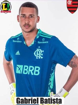 Gabriel Batista - 6,0 - Escolhido para substituir Diego Alves, o goleiro praticamente não foi exigido e conseguiu aproveitar a oportunidade sem ser vazado.