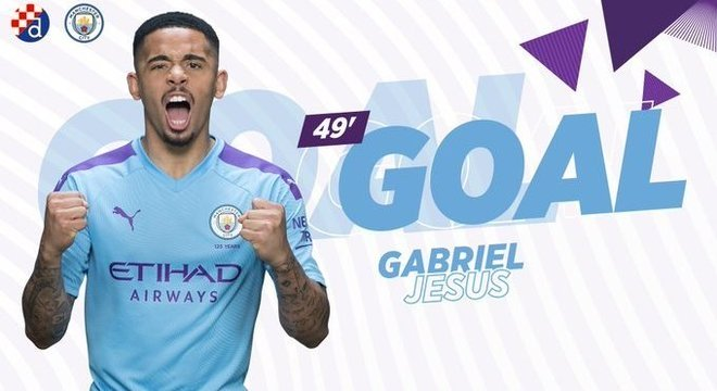 Gabriel Jesus, três gols pelo City