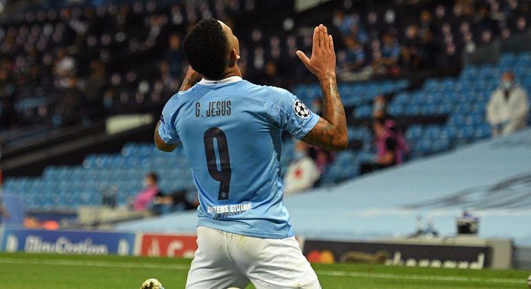 Gabriel Jesus, excelente partida e um dos gols dos 2 X 0 do City sobre o Moenchengladbach