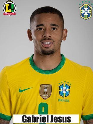 Gabriel Jesus: 7,0 – Foi um dos melhores do Brasil dentro de campo. Venceu boa parte das jogadas pela direita e contribuiu com uma assistência. No segundo tempo, ainda conseguiu uma roubada de bola que quase originou o segundo gol.