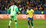 Gabriel Jesus, Alisson, Brasil x Paraguai, Copa América 2019