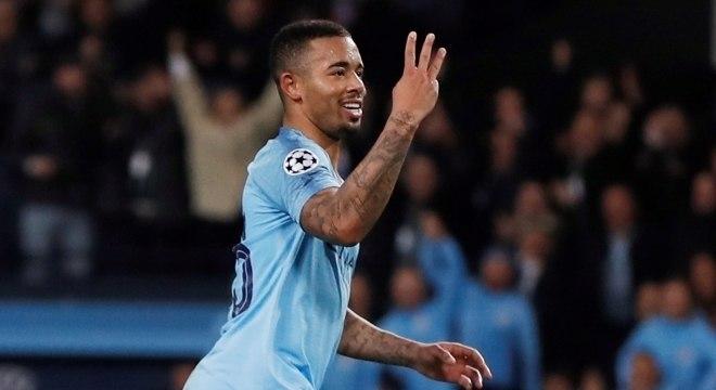 Gabriel Jesus marcou 3 gols na vitória do City sobre o Shakhtar