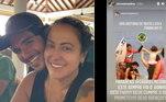 No último dia 15, Simone Medina deixou seguidores surpresos ao publicar uma mensagem parabenizando o filho, o surfista Gabriel Medina. Ela compartilhou uma publicação de um amigo, na qual o filho aparece mais jovem, sendo levantado pelo padrasto, Charles Medina, que era treinador do atleta antes dos desentendimentos familiares.