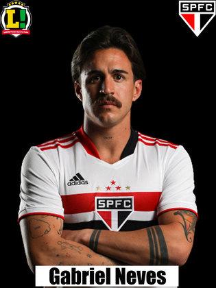 Gabriel Neves - 5,5: Ocupou a vaga deixada por Luan. Ajudou na recomposição, mas errou alguns passes fáceis.