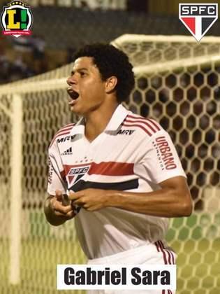Gabriel Sara - 6,0 - Entrou para ser uma alternativa no meio de campo e buscou algumas tabelas com Paulinho Bóia.
