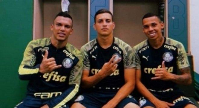 Gabriel Veron, Renan e Garcia Palmeiras