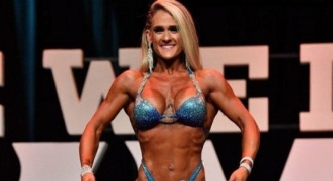 Gabriela durante competição