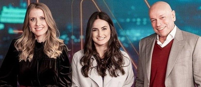 "Gabriela Prioli, Mari Palma e Leandro Karnal do ""CNN Tonight"""