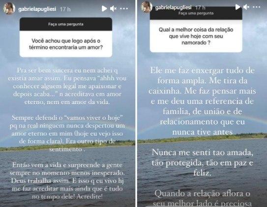 Gabriela Pugliesi fala sobre novo namorado: 'Nunca me senti tão amada'