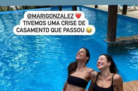 Gabriela Pugliesi revelou crise com Mari Gonzalez