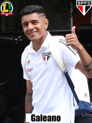 Galeano - 6,5 -Entrou na vaga de Pablo, aos 14 minutos do segundo tempo. Deu mais velocidade ao time no lado direito, mas perdeu ótima chance de gol.